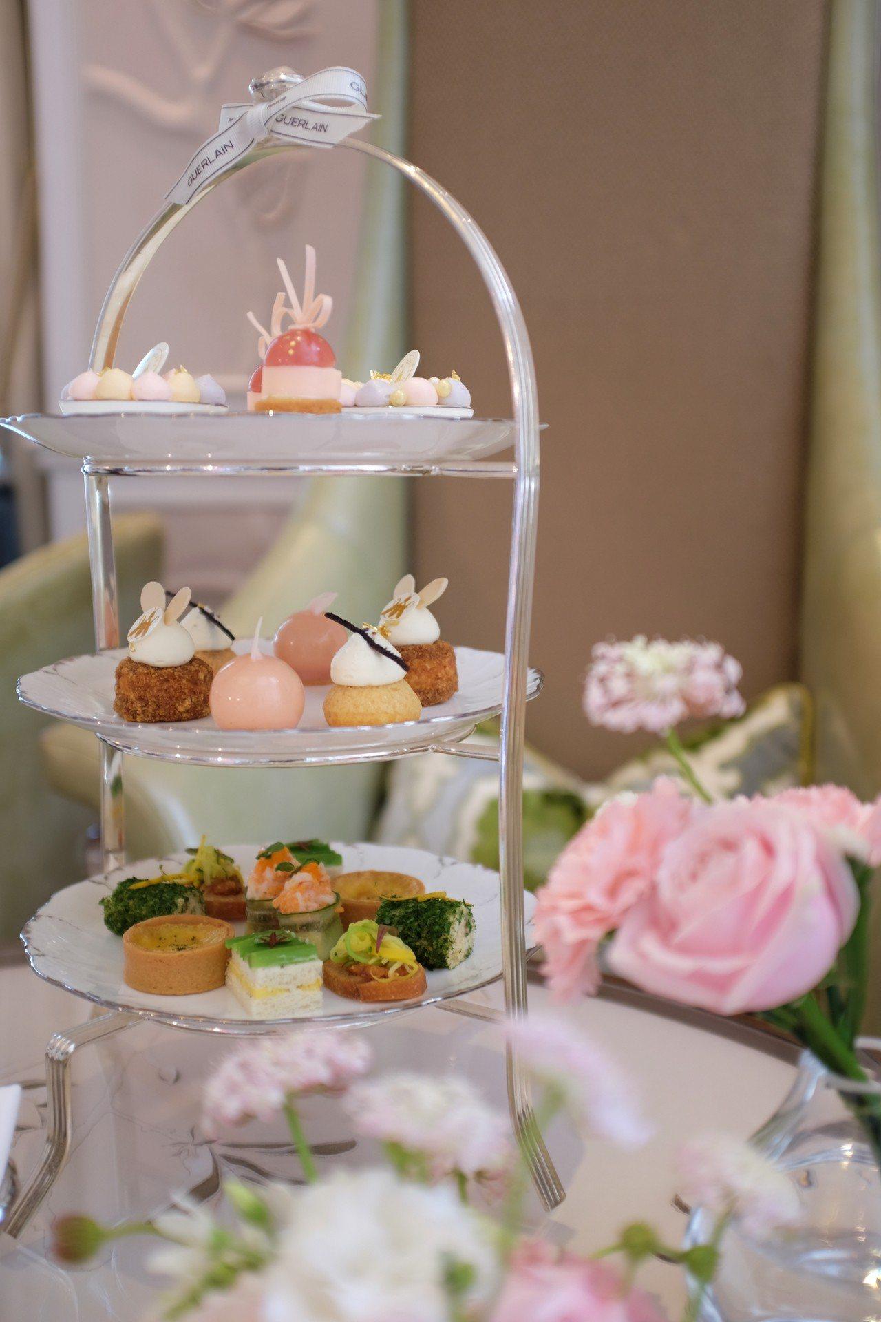 我的香氛印記下午茶饗宴,以嬌蘭香氛基調為靈感發想。記者沈佩臻/攝影