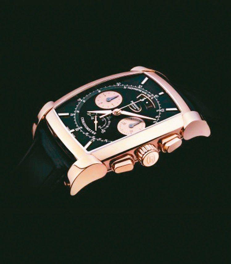 帕瑪強尼Kalpa Chronor自動上鍊計時碼表,玫瑰金表殼、表盤與PF365...