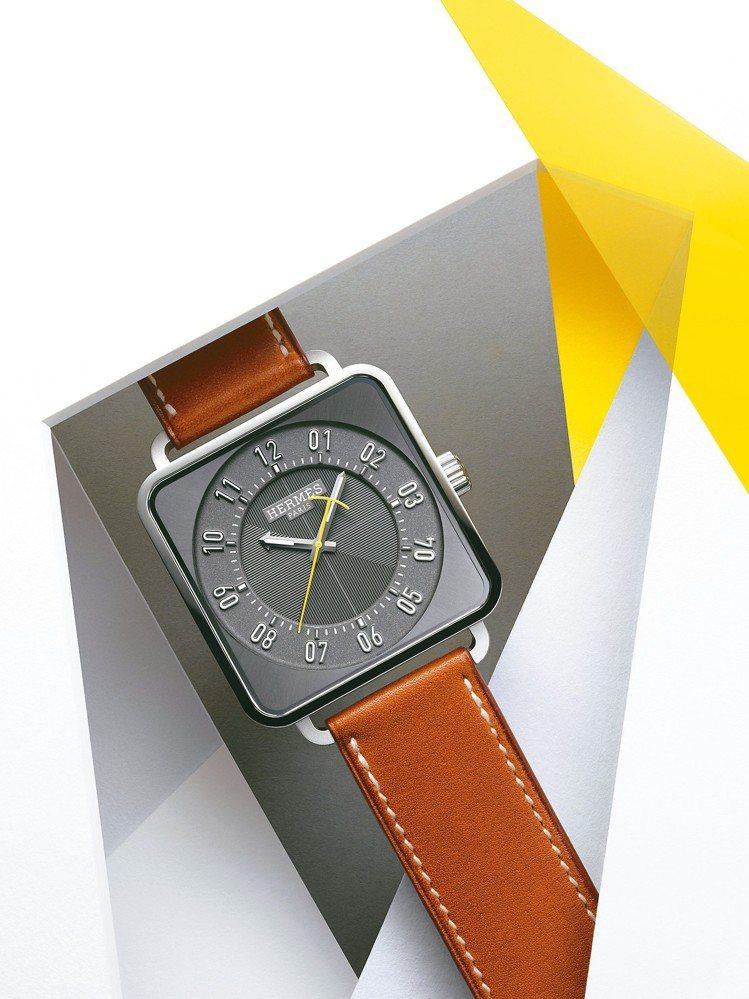 愛馬仕Carré H腕表,38×38毫米精鋼表殼、愛馬仕自製H1912自製機芯...