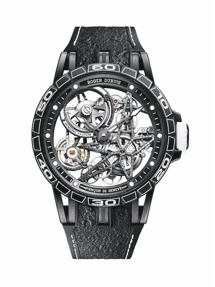 Excalibur Spider Pirelli自動上鍊鏤空腕表,220萬元。 ...