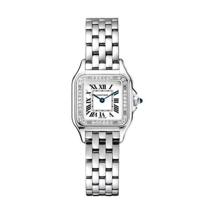卡地亞Panthère美洲豹腕表推出鑲鑽新款,售價未定。 圖/卡地亞提供