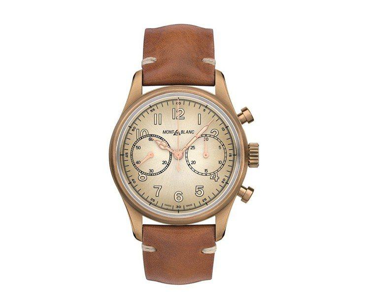 萬寶龍1858系列計時青銅自動腕表,16萬2,200元。圖/萬寶龍提供