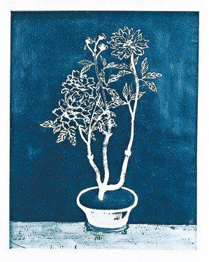 常玉資訊不明的畫作「盆花」,今年在法國拍賣場現蹤。 圖/陳立凱攝影、財團法人立青...