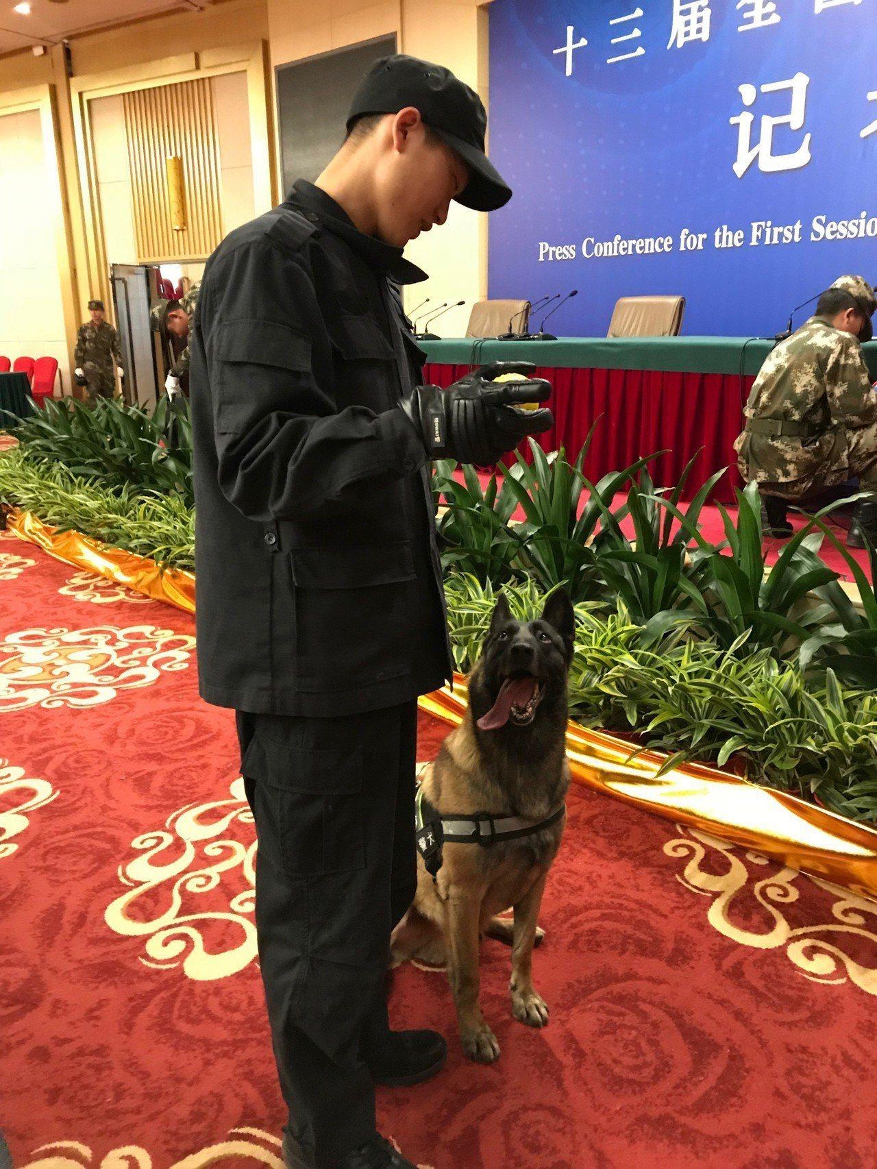 政協會議明開幕 警戒…軍犬聞遍全場 警察晚上會查房 中央社