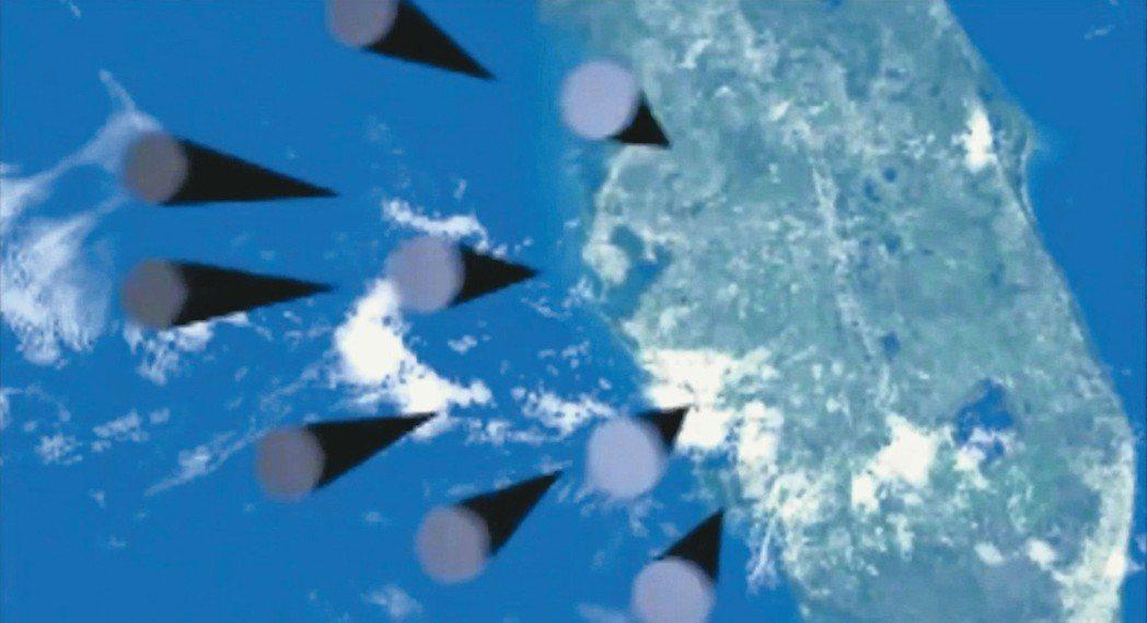 普亭宣稱擁有「無敵」飛彈,而配合的影片似乎顯示有大批飛彈奔向美國佛羅里達州。 歐...