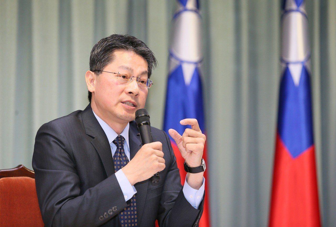 外交部發言人李憲章。 聯合報系資料照