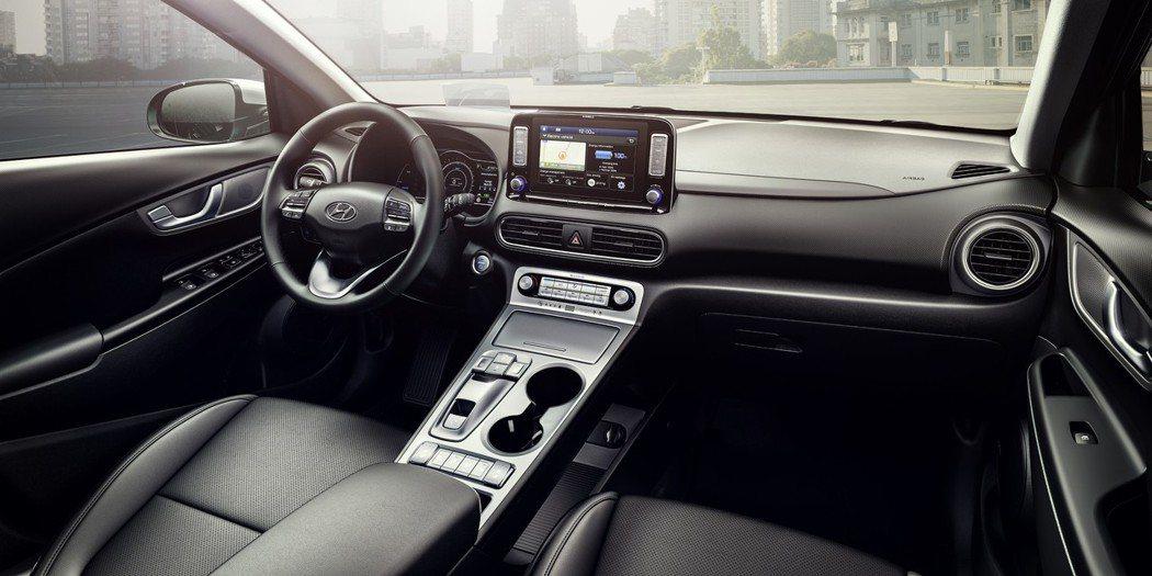 圖為Hyundai Kona Electric 車室。 摘自Hyundai