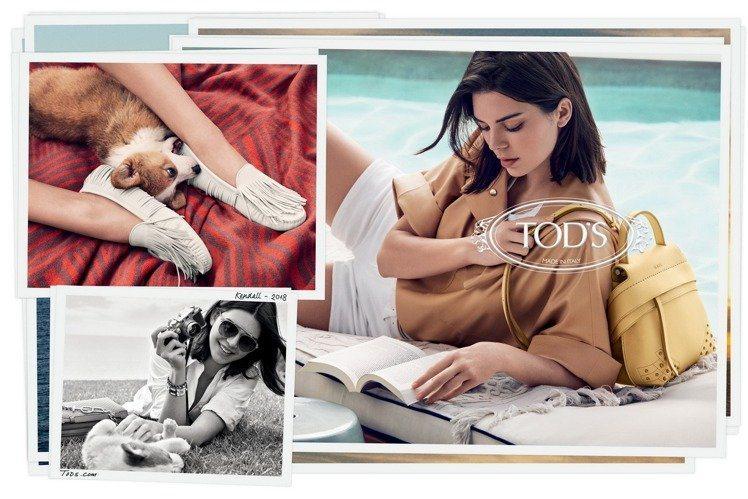 坎達爾珍娜入鏡TOD'S 2018春夏系列廣告。圖/迪生提供