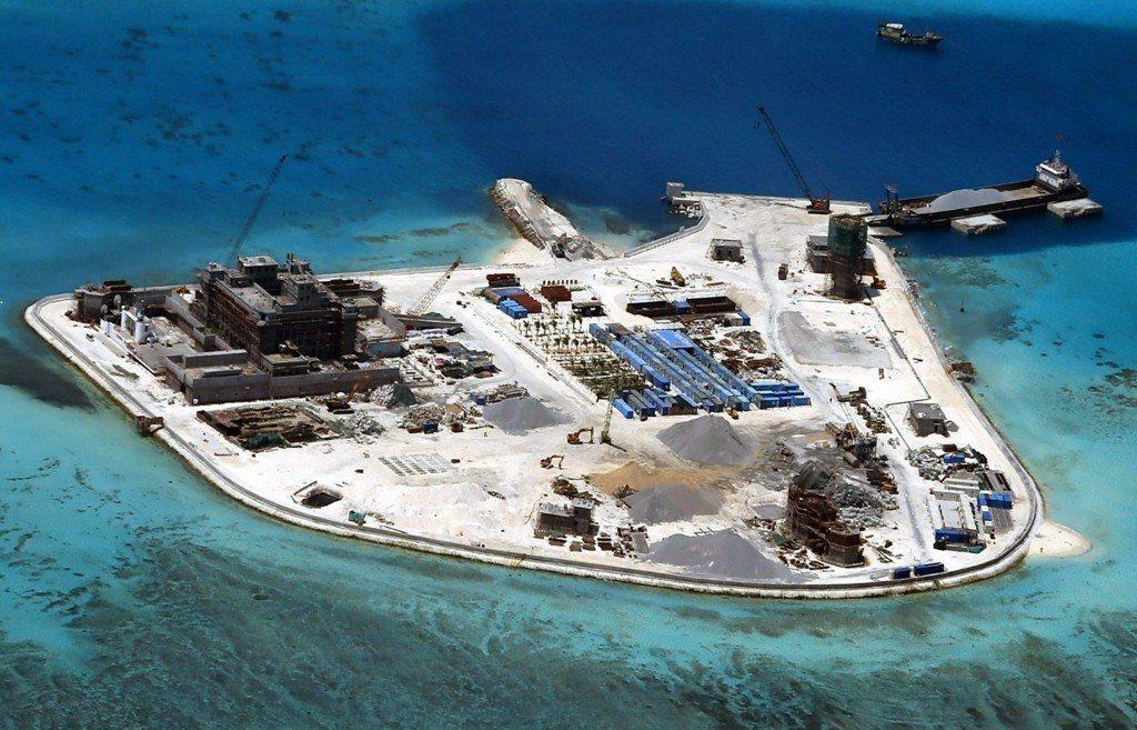 二〇一二年七月起,永興島正式成為海南省底下「地級市」三沙市行政中心。 圖/歐新社