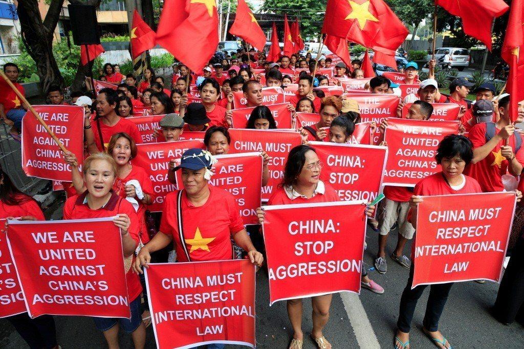 常設仲裁法院宣布中國所聲索的某些海域,實際上占領黃岩島已經侵犯馬尼拉的主權。 圖/路透社