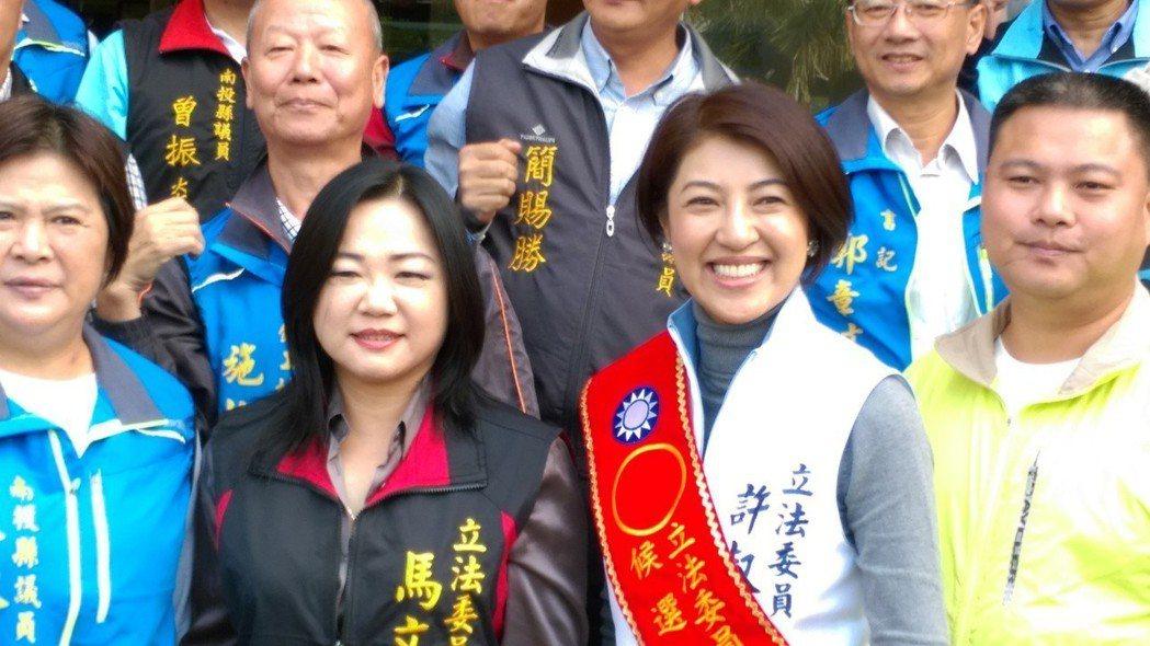 南投縣二席立委馬文君(左二)和許淑華(右二)都是女性。 圖/聯合報系資料照片
