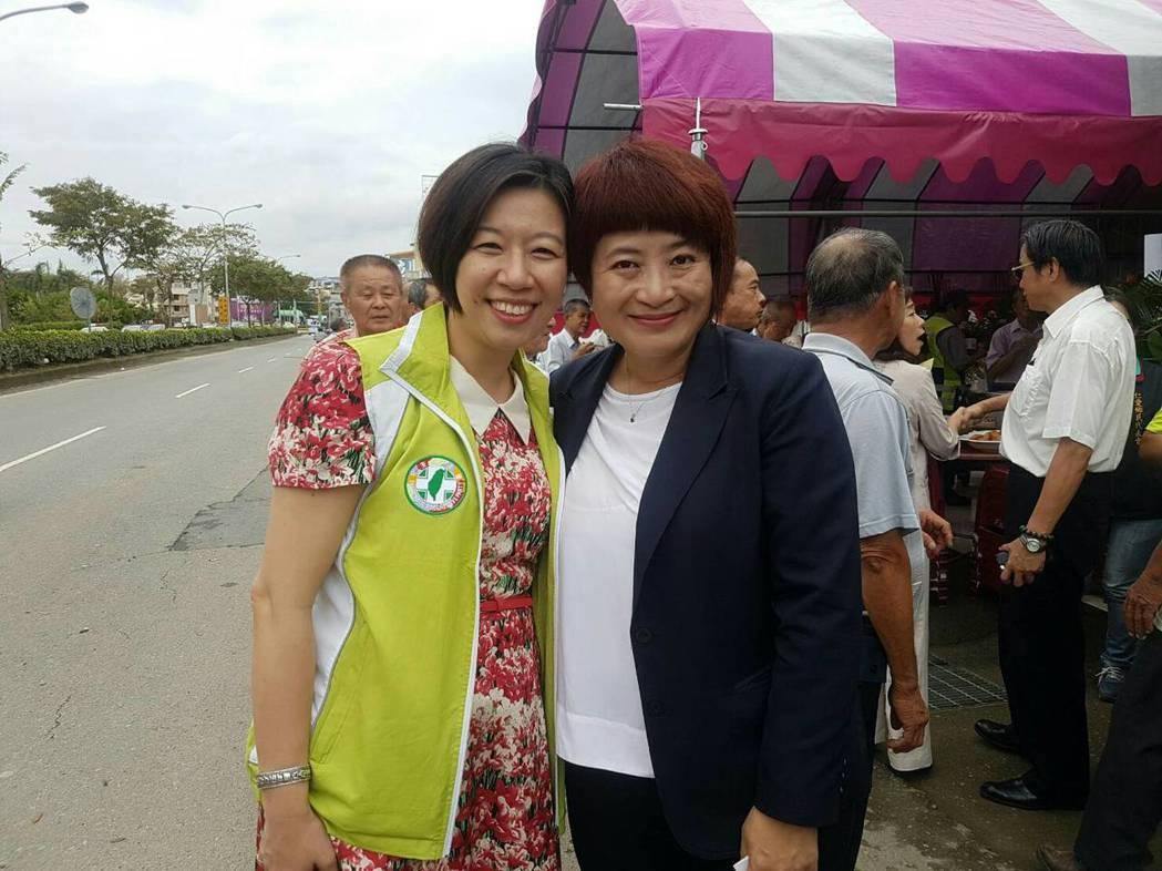 二名南投縣籍的民進黨不分區立委林靜儀(左)和蔡培慧(右)都是女性。 圖/本報資料...