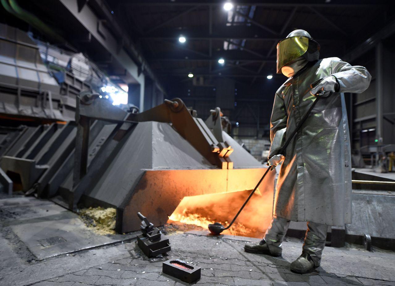 德國鋼鐵廠一景。歐盟則說過幾天會向世界貿易組織堅決表態。路透