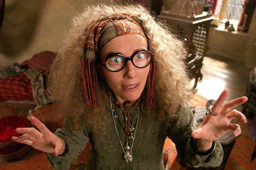 艾瑪湯普遜在「哈利波特」扮演瘋癲的崔老妮教授。圖/摘自imdb
