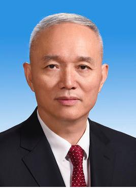原北京市委書記蔡奇將任中共中央統戰部部長。(百度百科)