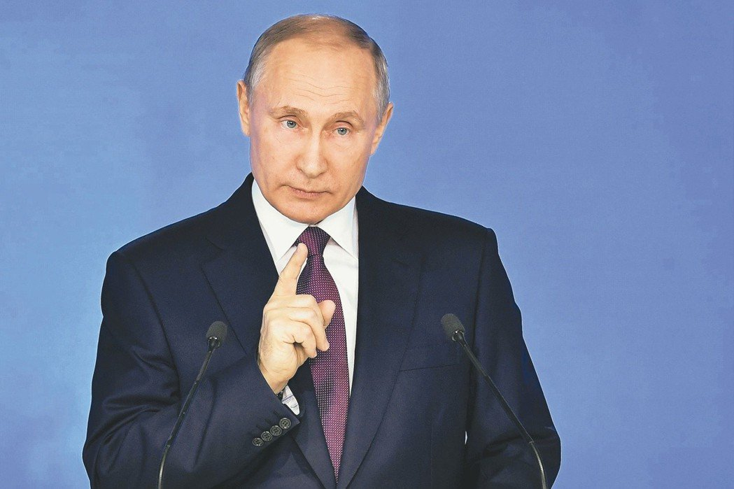 俄羅斯總統普亭發表國情咨文時,宣布研發多項新武器。 美聯社