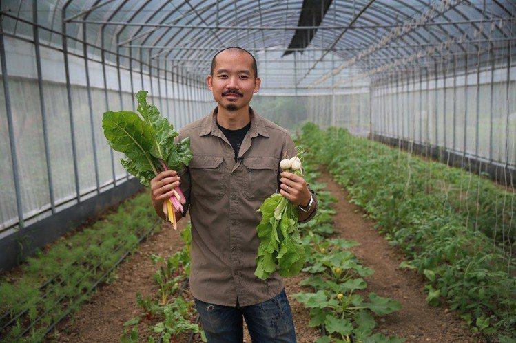 陳昶福為「野小孩農場」投注大量心血,目標朝生態農場大亨邁進。圖/記者陳柏亨攝影