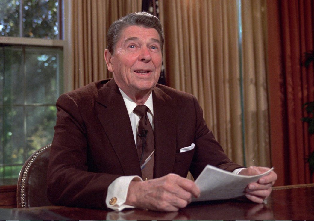 美國已故前總統雷根。 美聯社