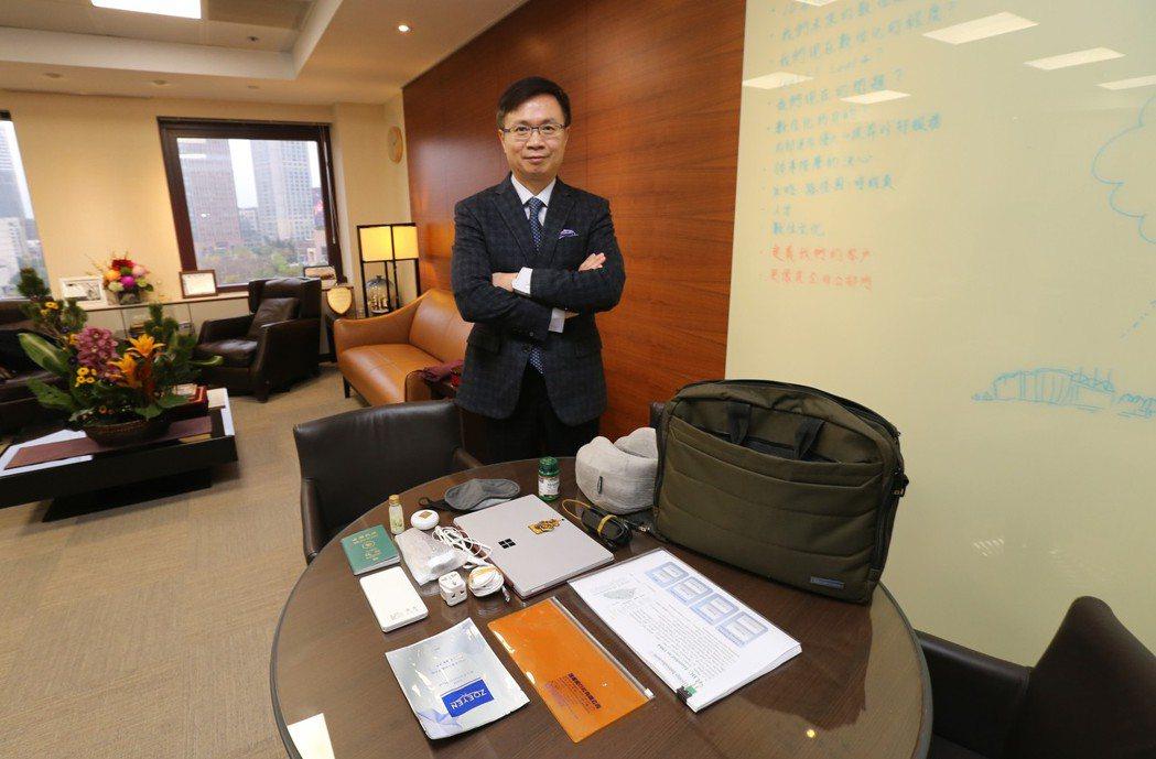 外貿協會董事長黃志芳分享出國的行李打包術。記者許正宏/攝影