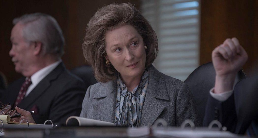 梅莉史翠普在「郵報:密戰」中的演技被有奧斯卡投票資格會員評為沉悶、無新意。圖/摘