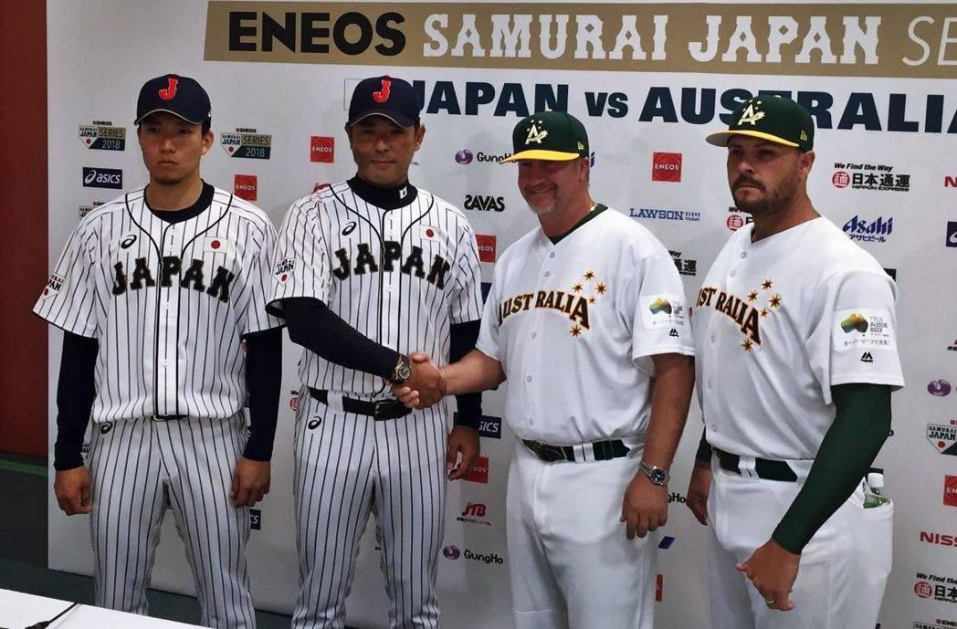 日本隊與澳洲隊進行「強化試合」。圖/取自WBSC粉絲團