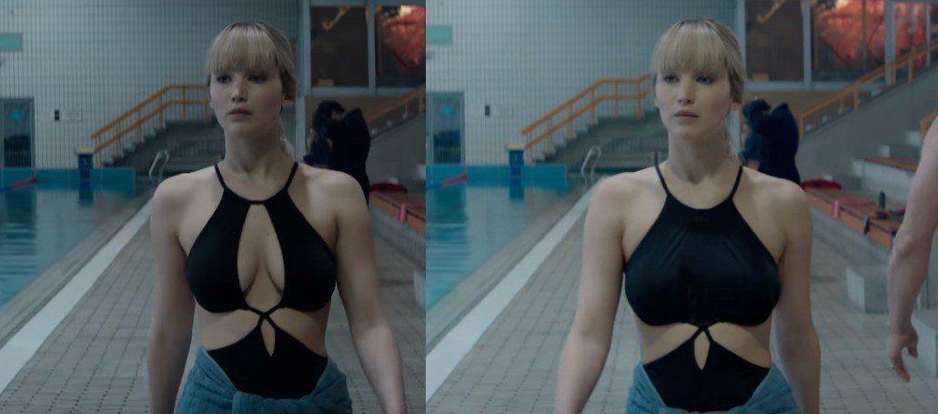 「紅雀」美國部份電視廣告傳將畫面修改,不想太清涼引發抨擊。圖/摘自de.ign....