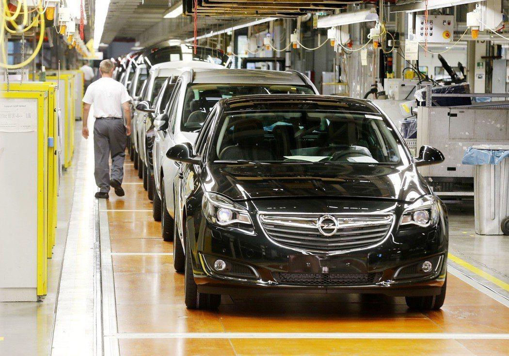 德國歐寶車廠出產的汽車。美聯社