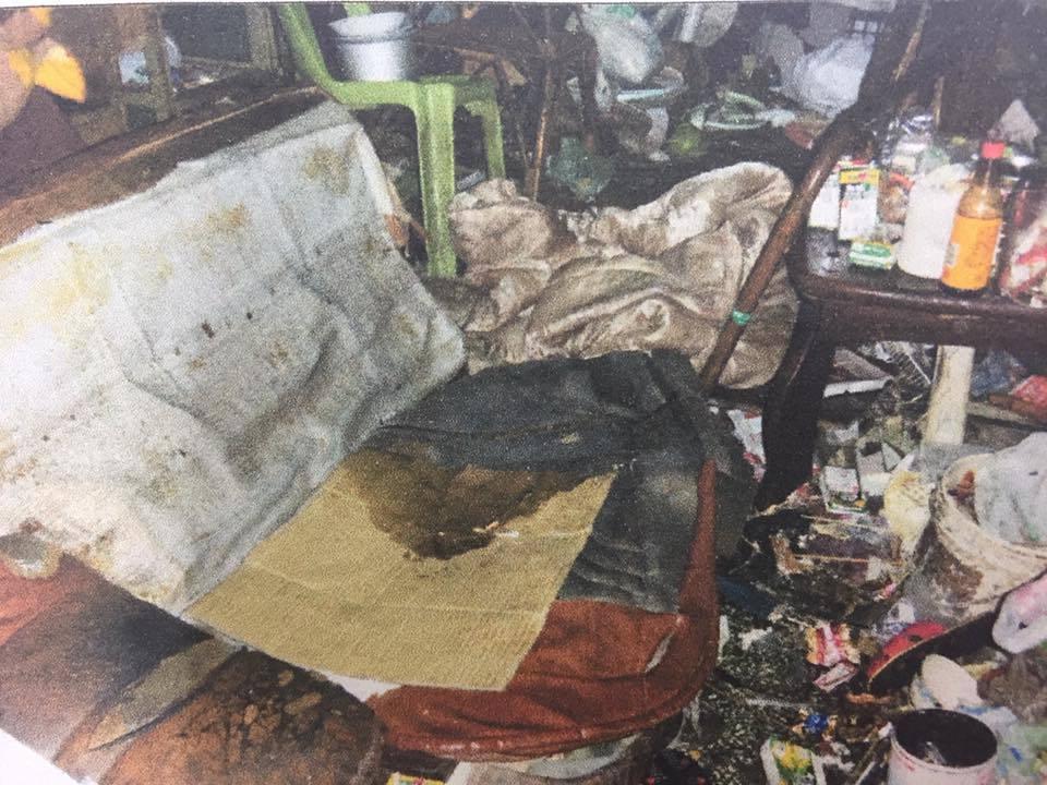 死者與家人因撿拾資源回收,導致居住環境髒亂不堪。記者張雅婷/翻攝