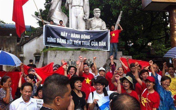越南在2014年爆發反華抗議活動。 (路透)
