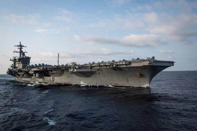 卡爾文森號航母訪問越南峴港4天。 (路透)