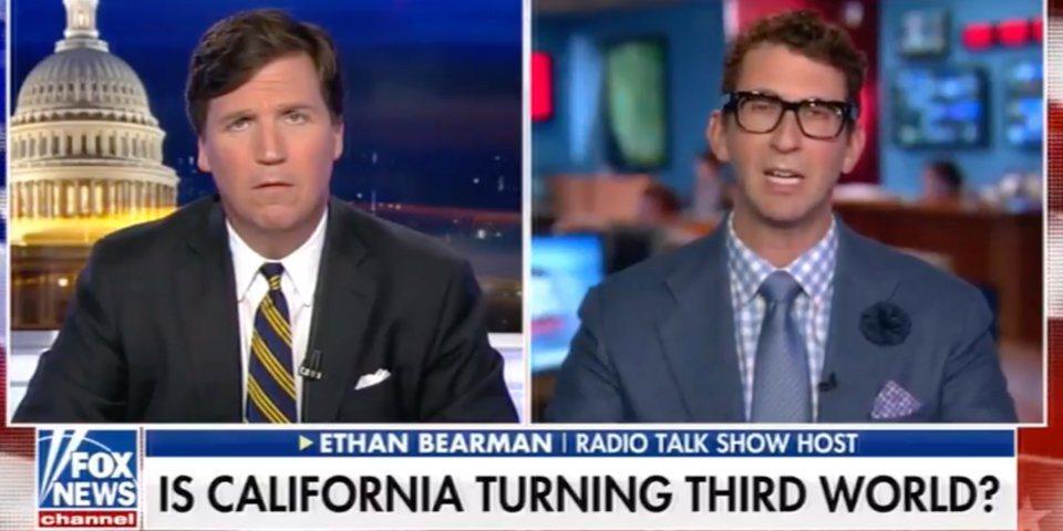 福斯主播在節目中表示:加州生活品質吊全美車尾,是西裔移民人口過多造成。圖/取自畫...