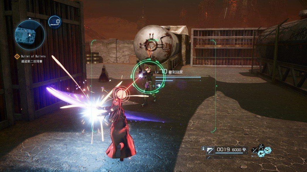 想要模仿桐人拿光劍砍子彈? 一對一限定,對兩名以上敵人會被射成蜂窩。