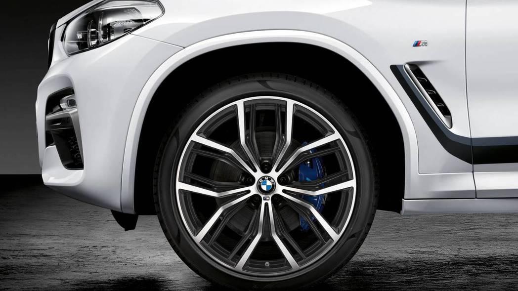 BMW X4 M套件輪圈。 摘自BMW