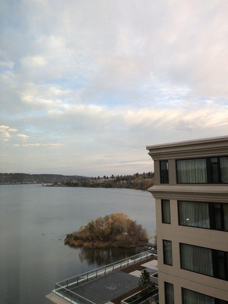 從房間看出去的湖,雖然有被對面房間擋住,但整個湖景還是很美的。圖文來自於:Tri...