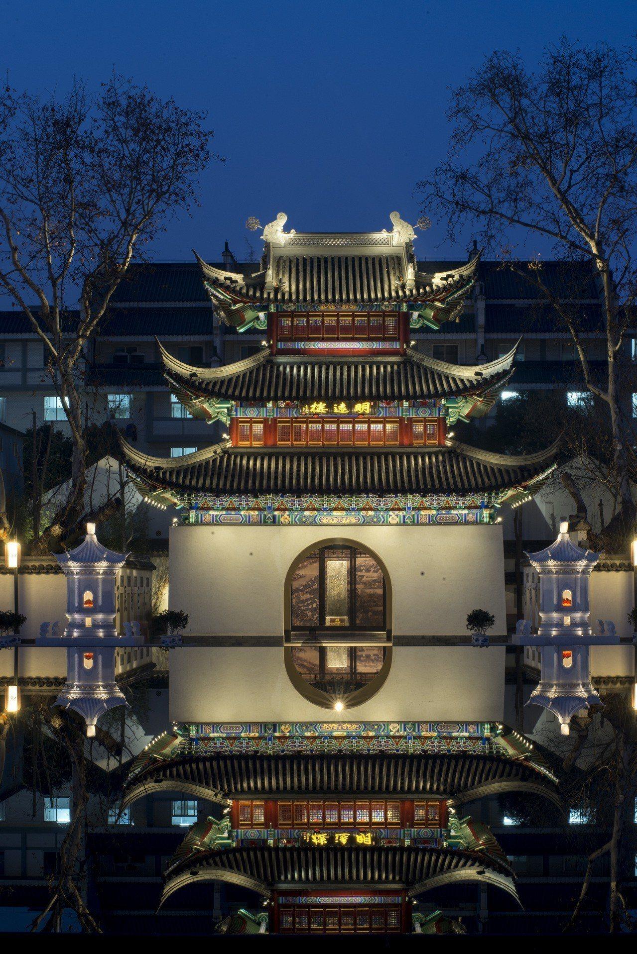 燈影裡的江南貢院 ©謝光輝