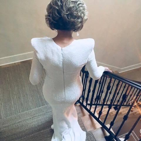80歲的珍芳達穿著Balmain禮服,身材驚人地好。圖/取自IG @JANEFO...
