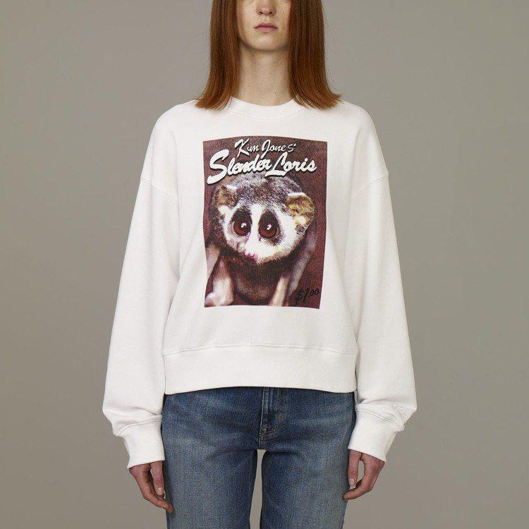 Kim Jones與GU合作系列女裝長袖印花T恤,約790元。圖/GU提供