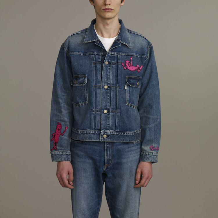 Kim Jones與GU合作系列男裝牛仔外套,約1,790元。圖/GU提供