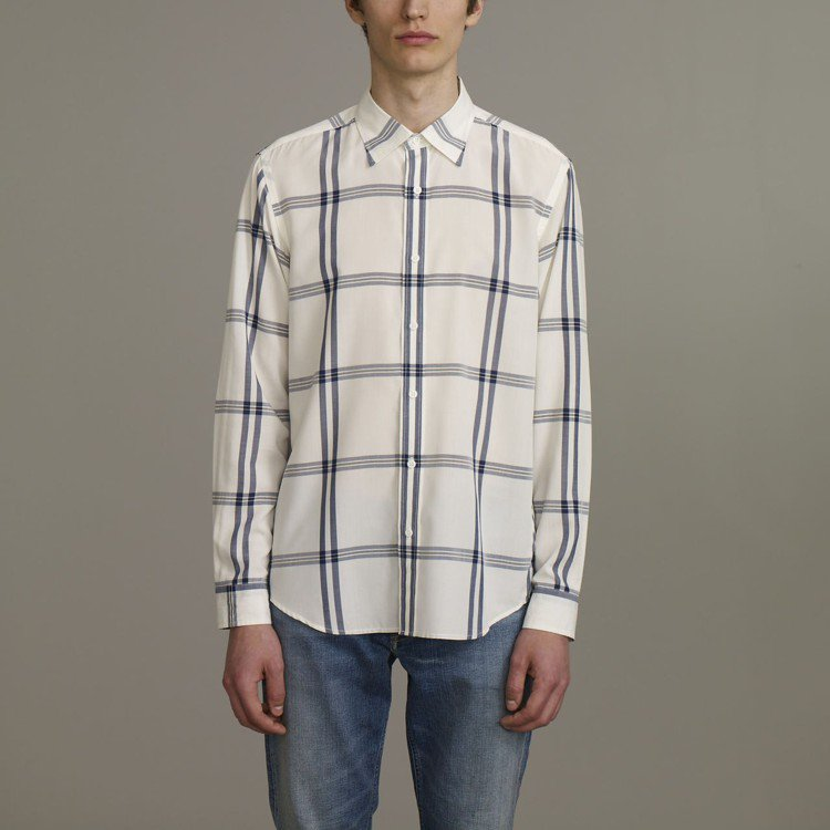 Kim Jones與GU合作系列男裝格紋襯衫,約890元。圖/GU提供