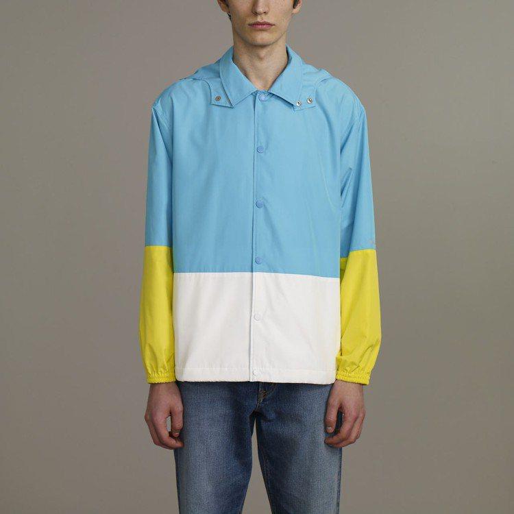 Kim Jones與GU合作系列男裝色塊連帽外套,約1,790元。圖/GU提供
