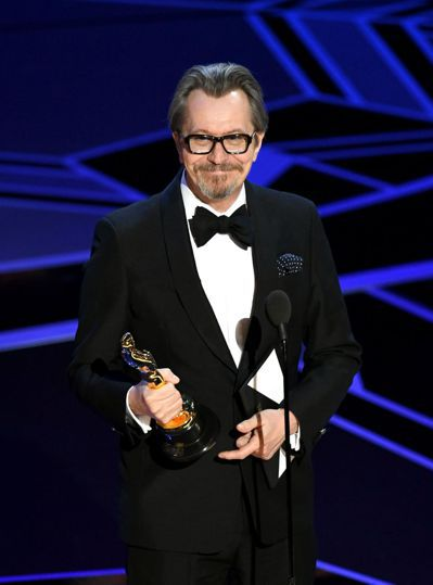 《最黑暗的時刻》的蓋瑞歐德曼贏得最佳男主角。法新社