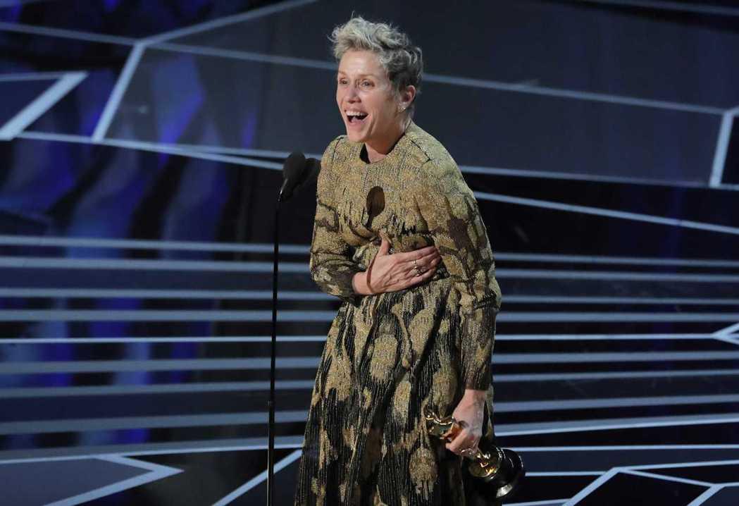 《意外》的法蘭西絲麥多曼贏得最佳女主角。路透