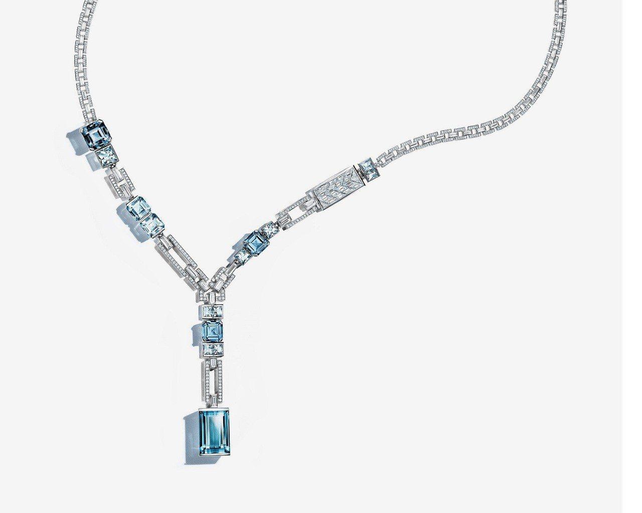 蓋兒加朵配戴的項鍊為Tiffany & Co. 2018 Blue Book高級...