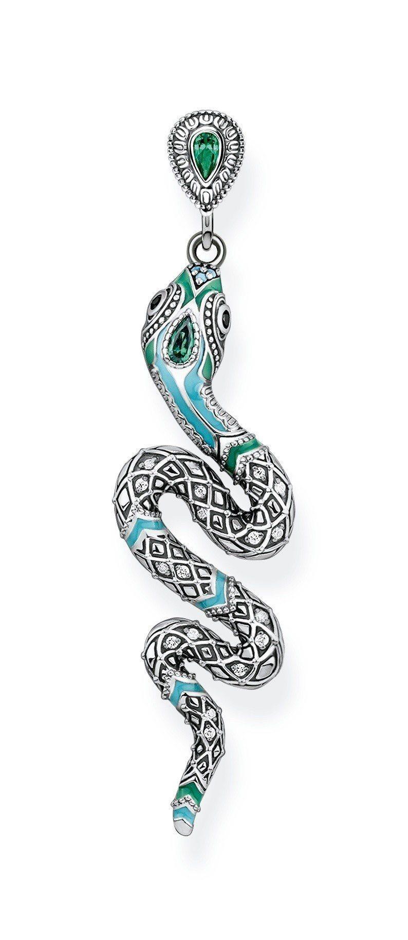 純銀神秘之蛇單支耳環,9,880元。圖/Thomas Sabo提供