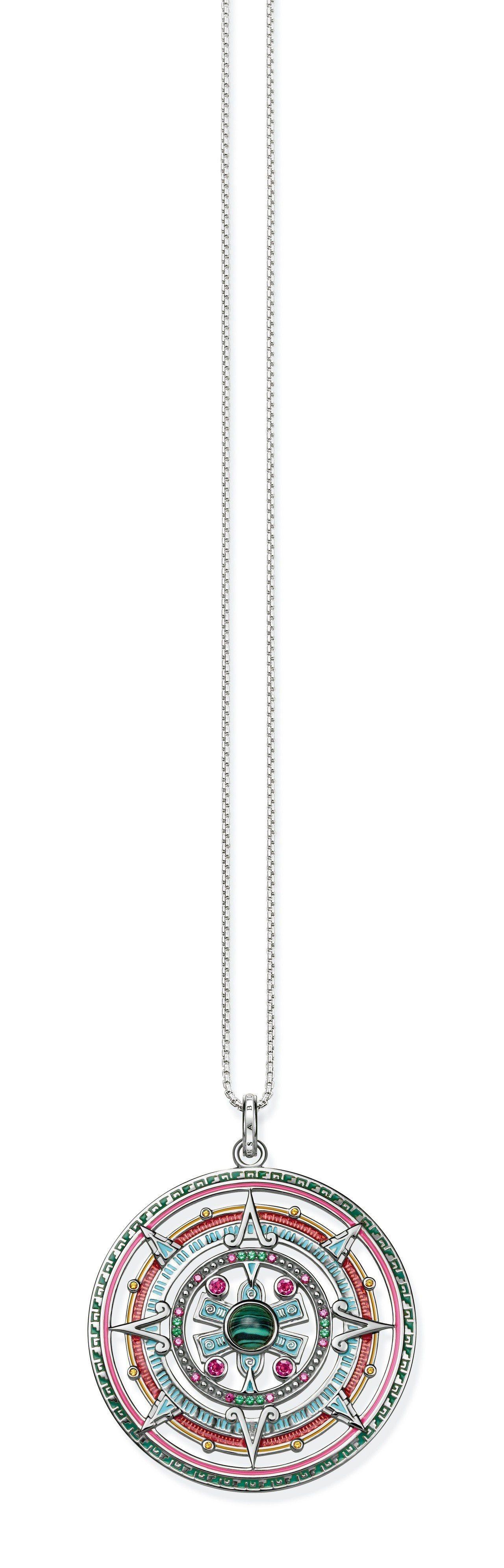 純銀鍍金太陽石護身,17,800元。圖/Thomas Sabo提供