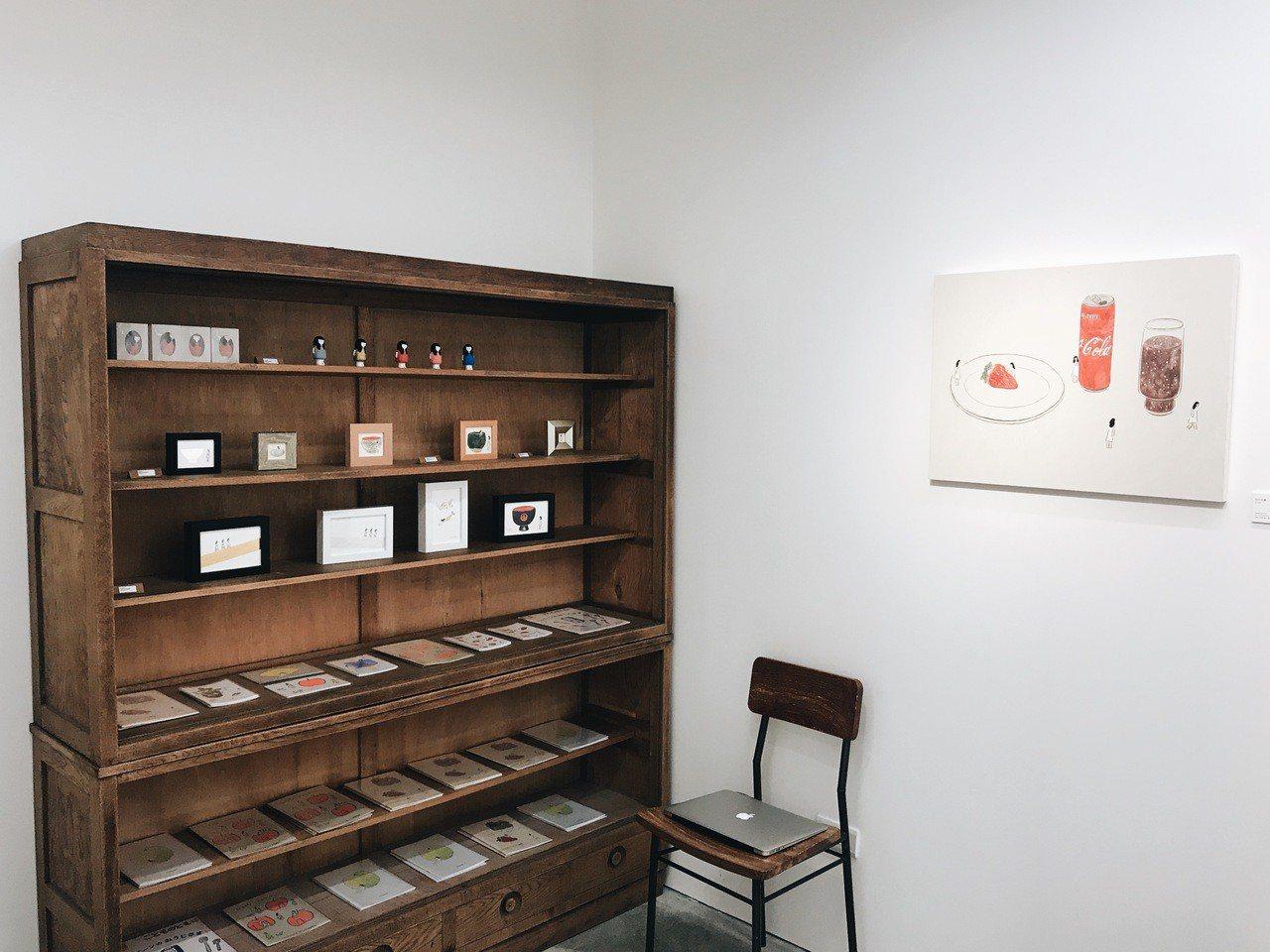 小器藝廊展覽「鬼頭祈個展」一隅。記者沈佩臻/攝影