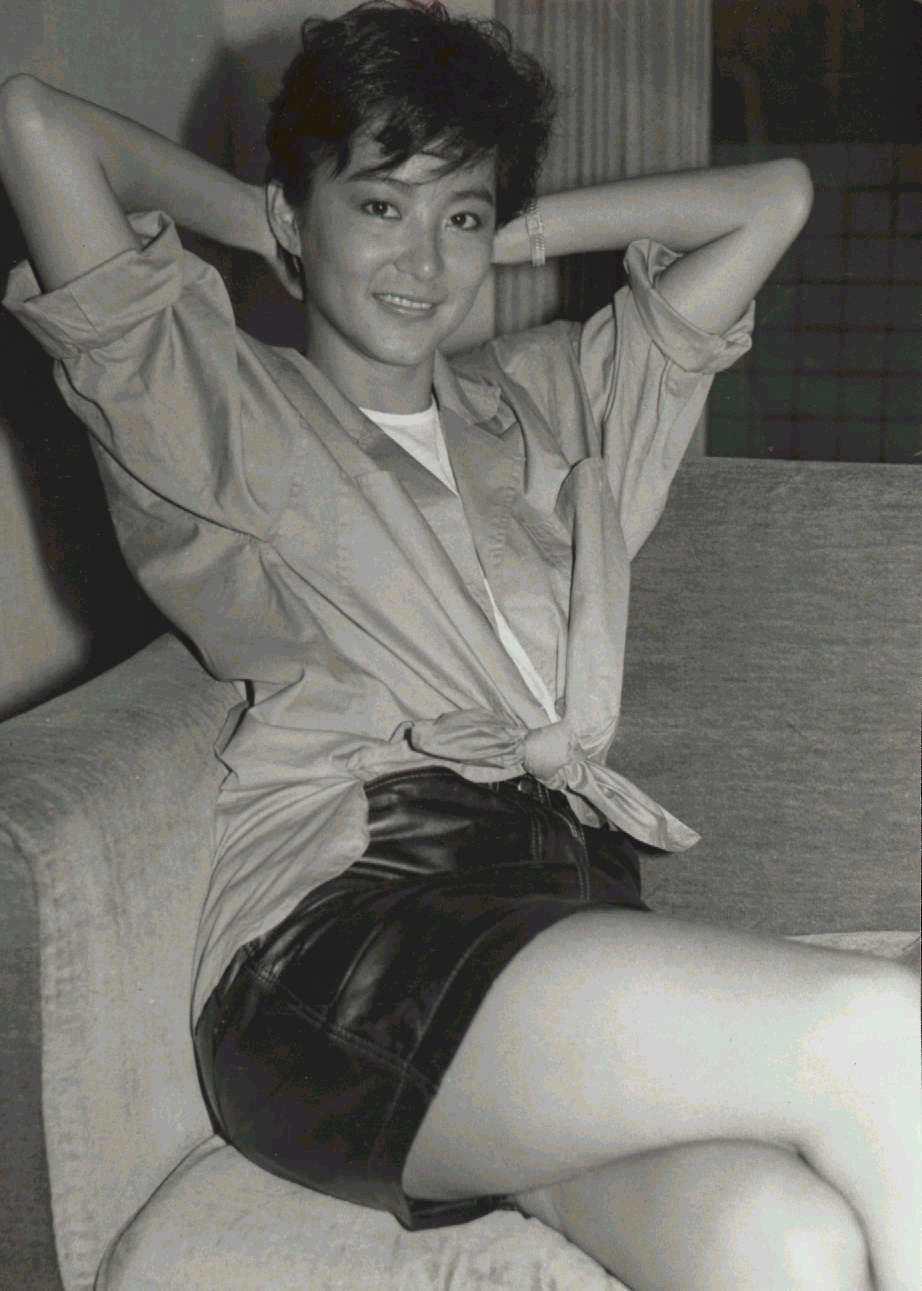 林青霞剪了俐落短髮,接演「警察故事」。圖/聯合報系資料照片