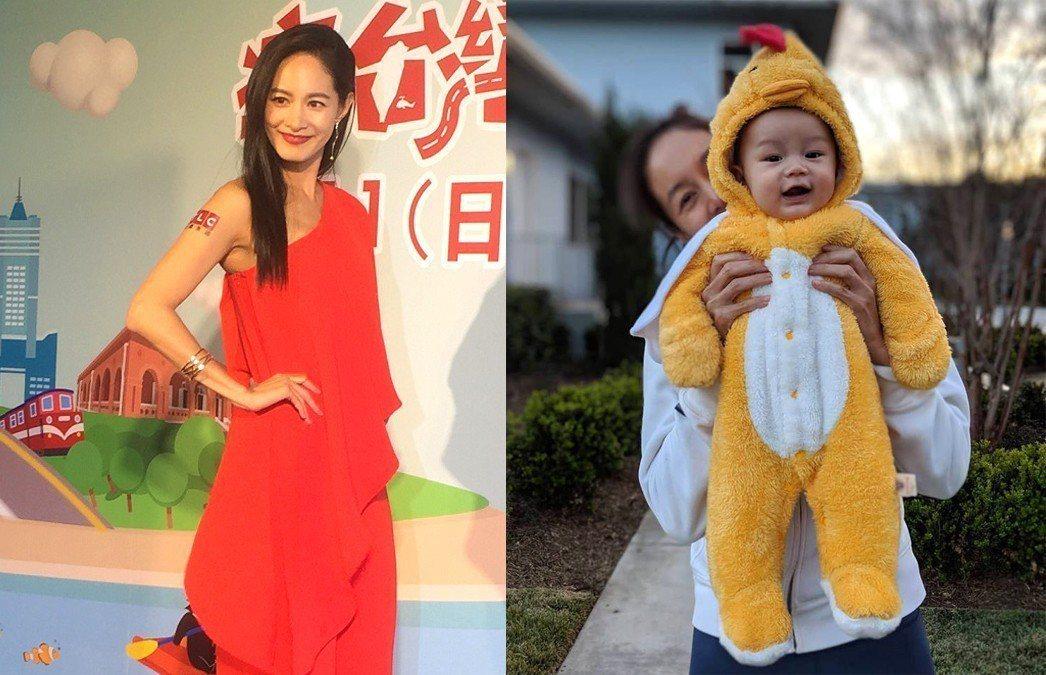 Janet笑稱兒子Egan差點喝到「加味母乳」。圖/記者蘇詠智攝影、擷自臉書