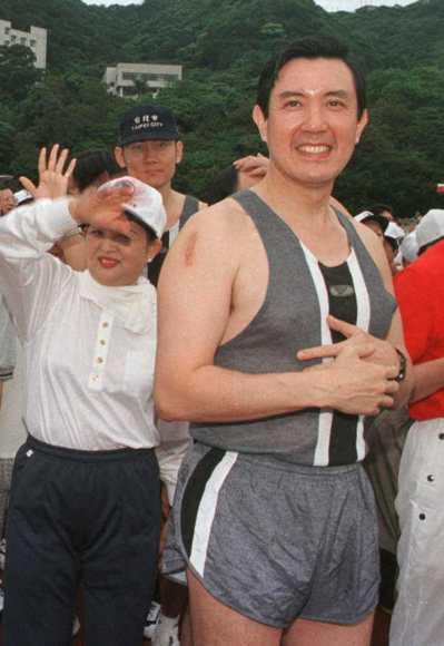 莊國榮表示馬英九很「娘」不太像男人,圖為馬英九參加台塑運動會留影。 圖/聯合報系...
