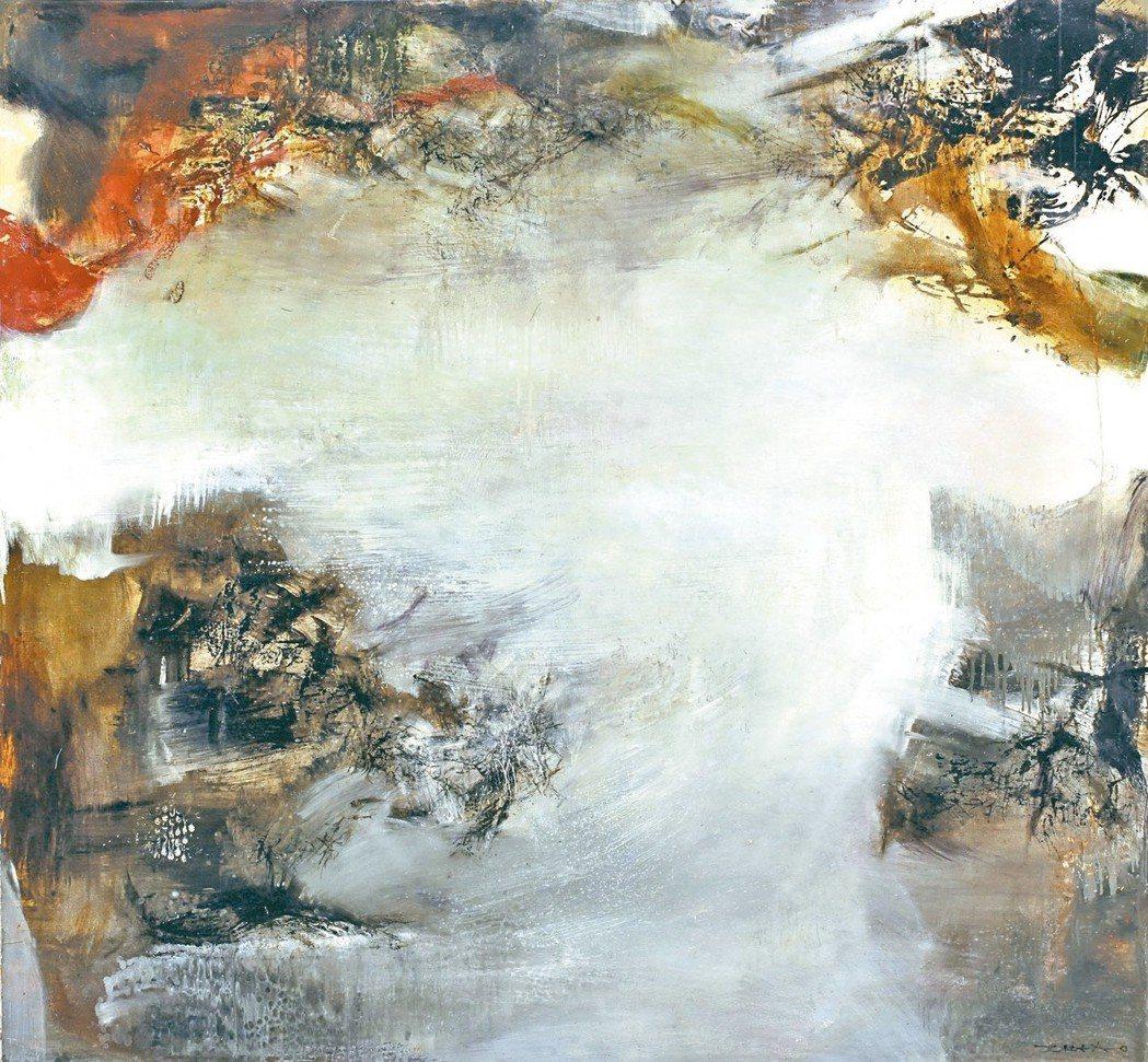 畫家趙無極在第二任妻子過世後所繪《08.02.72》。 亞大現代美術館/提供